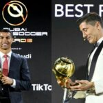 "Cristiano Ronaldo Gives His ""Player of The Year"" Award to Robert Lewandowski"