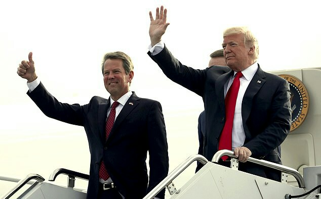 Trump calls on Georgia's Republican Governor Brian Kemp to Resign