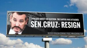 Republican Group Launches Billboard Campaign Urging Sen. Cruz and Hawley to Resign