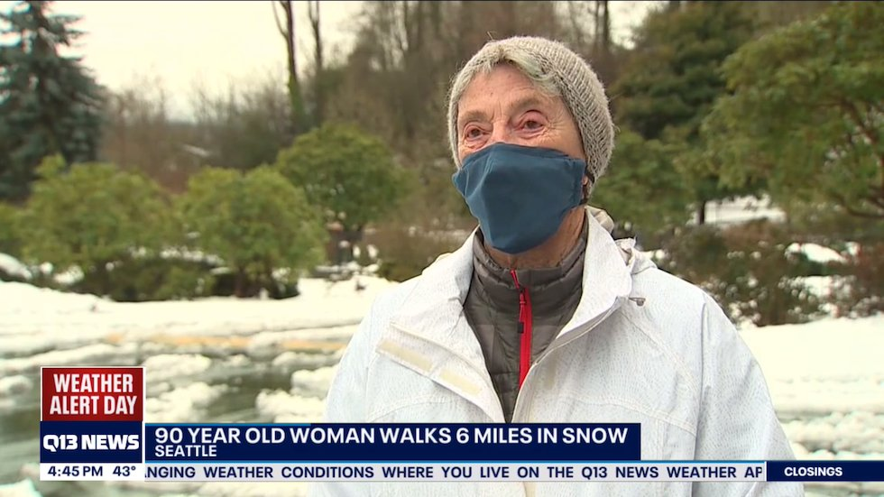 90-Year-Old Seattle Woman Walked Six Miles Through Snow to Get COVID Vaccine
