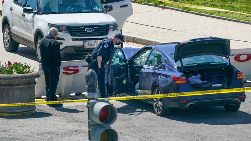 1 Officer Dead, 1 Injured After Car Rams Capitol, Suspect Fatally Shot