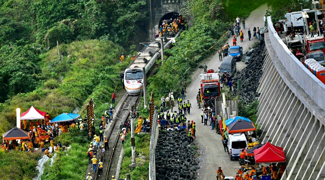 At Least 48 Dead, More Than 60 Injured in Taiwan Train Crash
